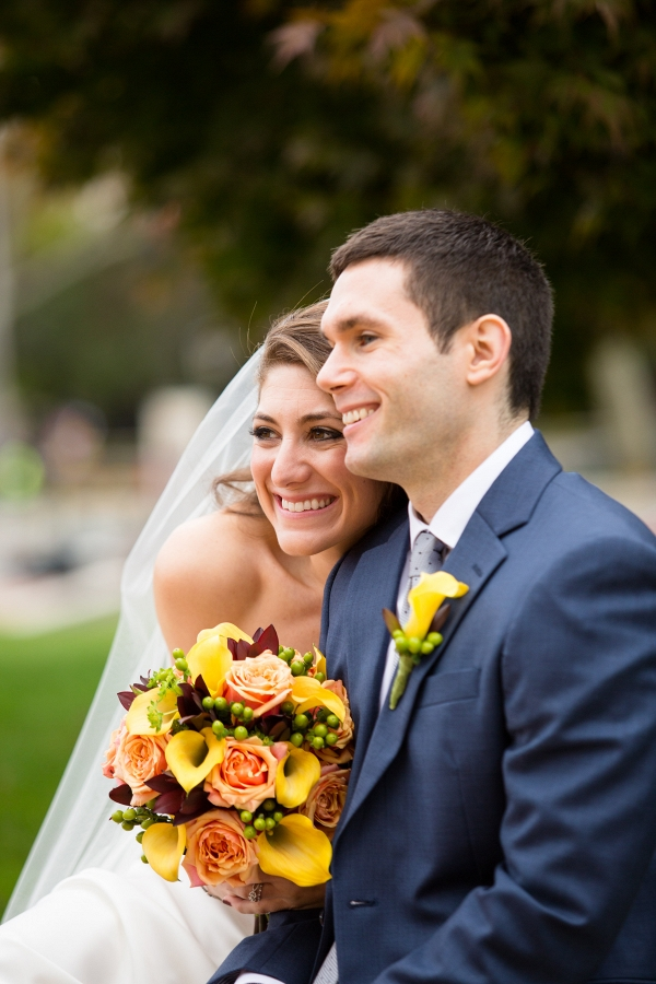 Bride Groom Stunning Morning Bridal Portraits Fall Inspired Brunch Wedding