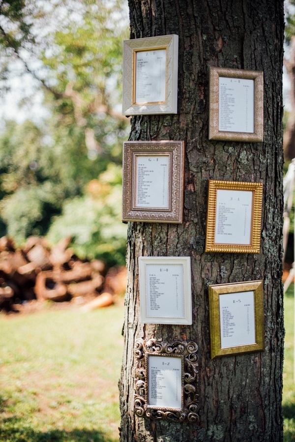 Framed Table Assignments Tree Seating Chart Festive DIY Backyard Wedding