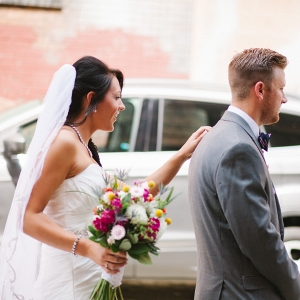 Bride Groom First Look Session Romantic Whimsical Pittsburgh Wedding