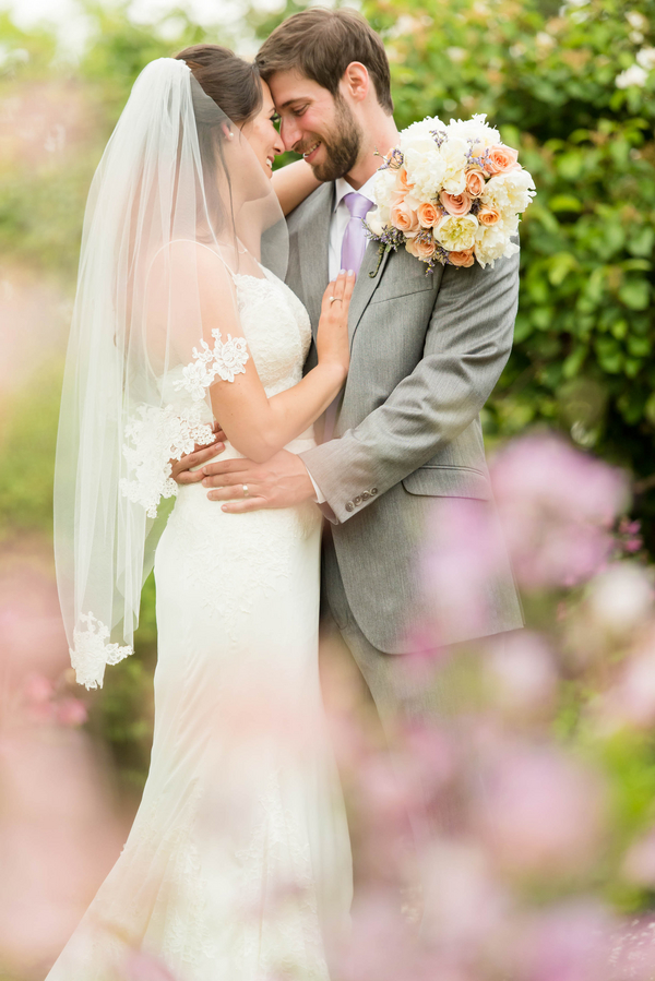 Romantic Garden Wedding Outdoor Ceremony Soft Pastel Color Palette Light Airy Fabrics
