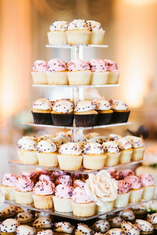 Six Tier Cupcake Display Sweet Ending Romantic Whimsical Pittsburgh Wedding