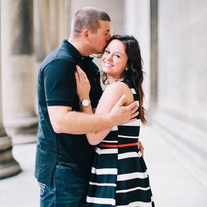 A Kiss on the Forehead is the Cutest During This Fun Engagement Session