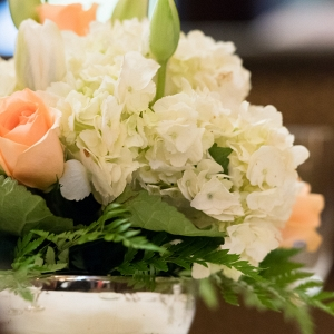 Floral Centerpieces Tulips Roses Hydrangeas Mercury Glass 1920s Inspired Pittsburgh Wedding