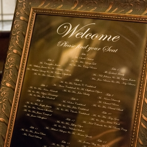 Framed Seating Chart 1920s Inspired Pittsburgh Wedding