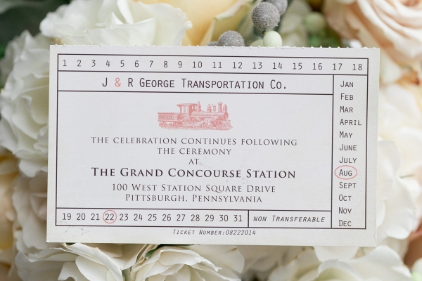 Train Station Tickets Invitations Vintage Fairy Tale Inspired Pittsburgh Wedding