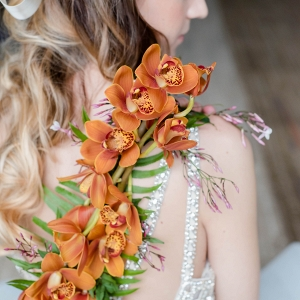 A Garland of Cascading Orchids Down Your Back is the Perfect Way to Embrace the Wearable Floral Wedding Trend