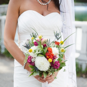 Colorful Wildflower Bouquet Offbeat Bride Whimsical DIY Wedding