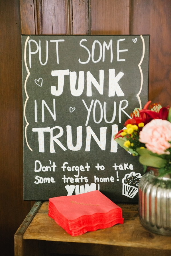Handmade Dessert Display Chalkboard Sign Perfect Whimisical DIY Wedding