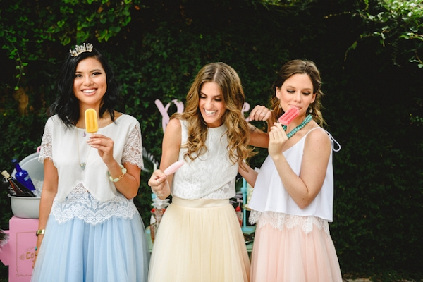 fun boho bridal party on Burnett's Boards