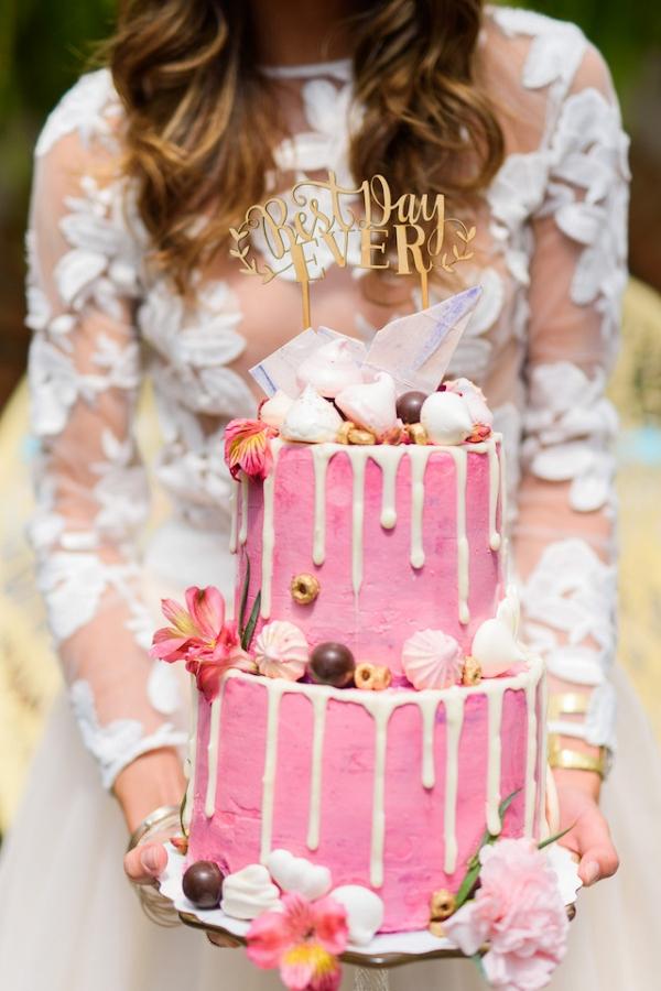 whimsical pink cake on Burnett's Boards