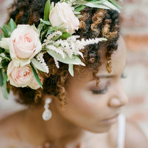 Bride in floral crown