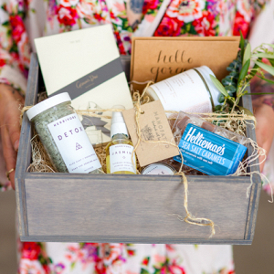 Bridesmaid gift box on Burnett's Boards