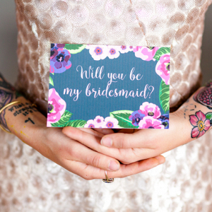 will you be my bridesmaid card on Burnett's Boards