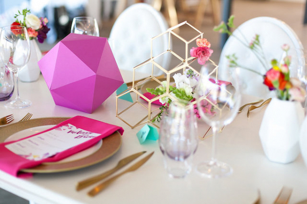 Colorful geometric wedding