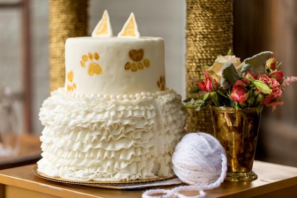 cat themed bridal shower from Burnett's Boards