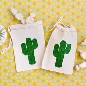 cactus favor bags