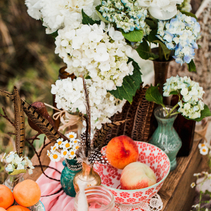 Boho wedding decor