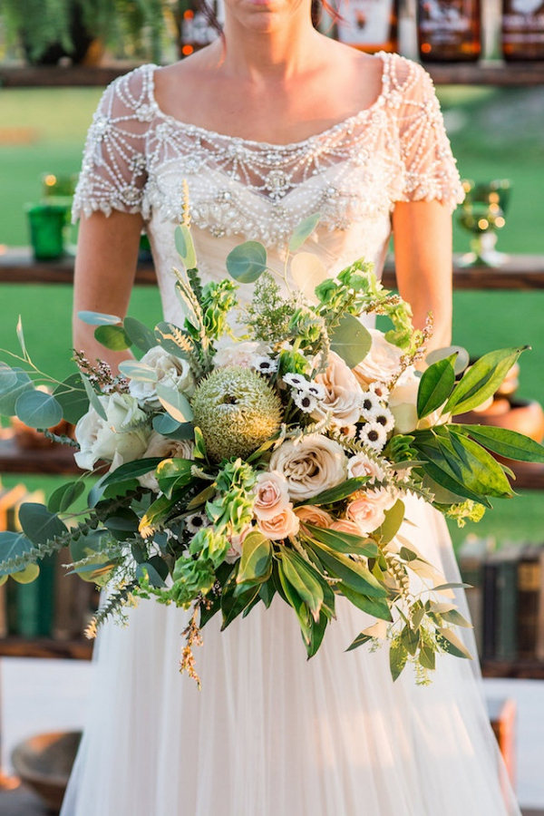 Greenery bridal bouquet