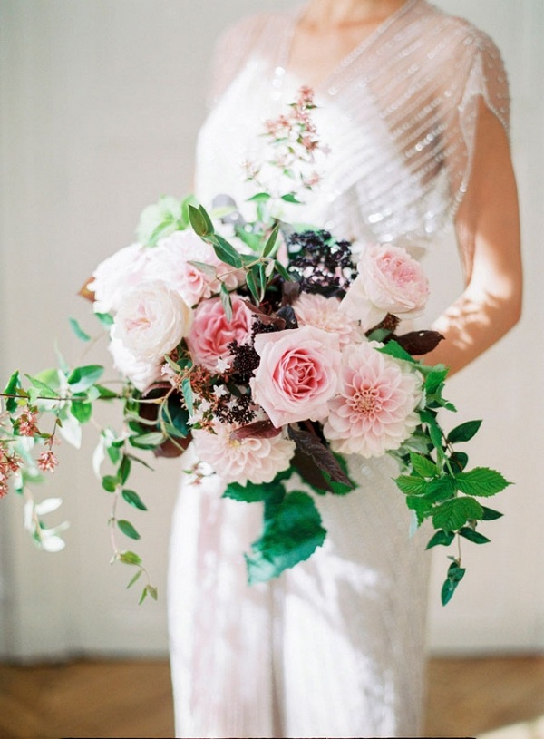 blush bouquet on Burnett's Boards