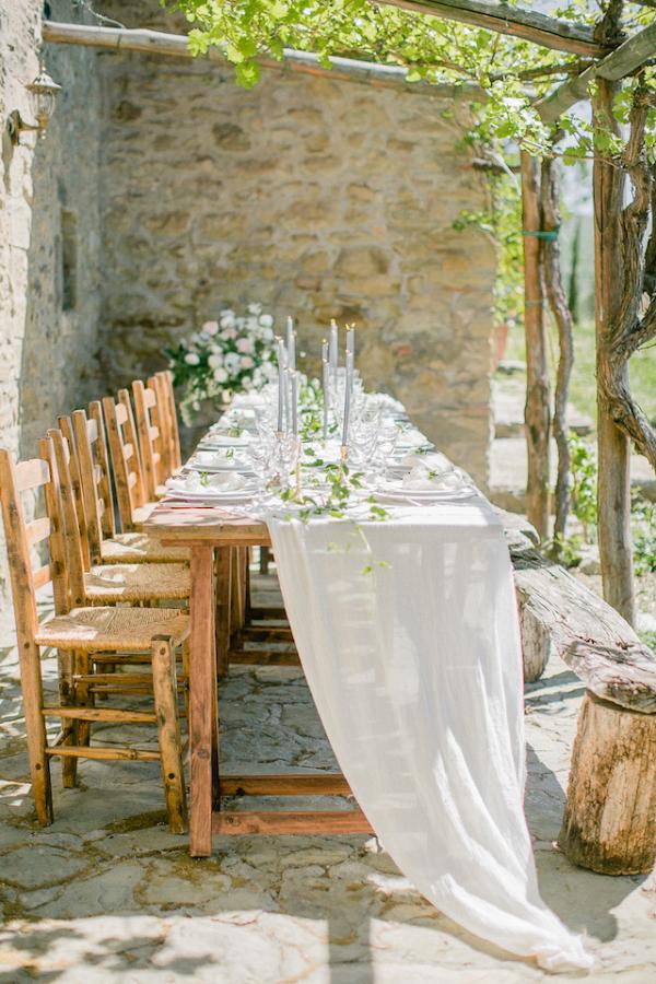Villa patio reception