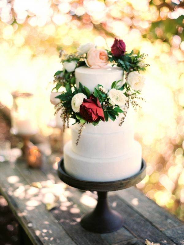 Flower wreath cake topper