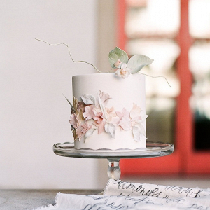 Mini floral wedding cake