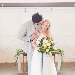 Kumquat and teal wedding inspiration