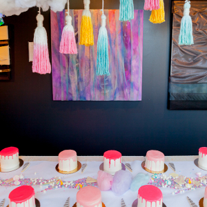 Cake decorating bridal shower
