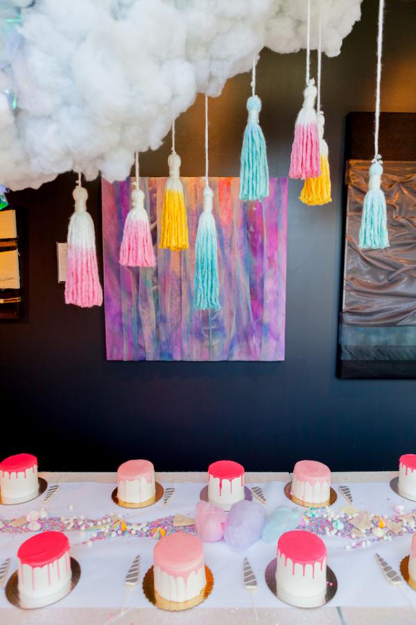 Cake decorating bridal shower