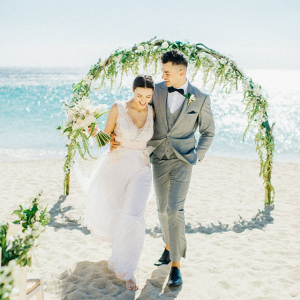 Mykonos beach wedding ceremony