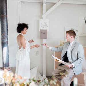Art studio wedding