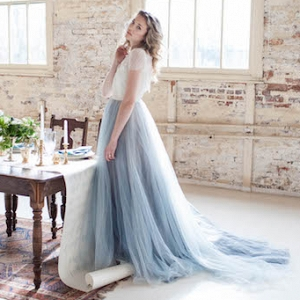 Pantone Serenity blue wedding dress