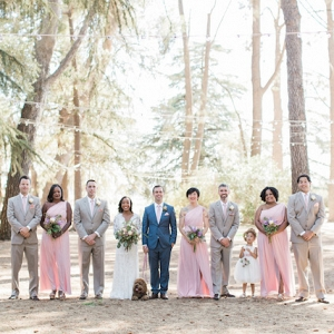 blush bridal party on Burnett's Boards