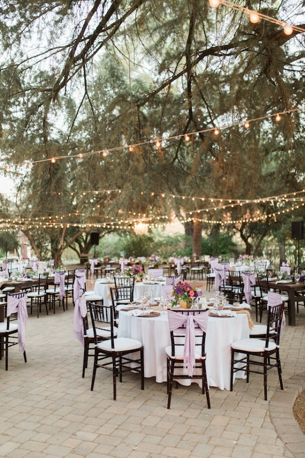 outdoor wedding reception on Burnett's Boards