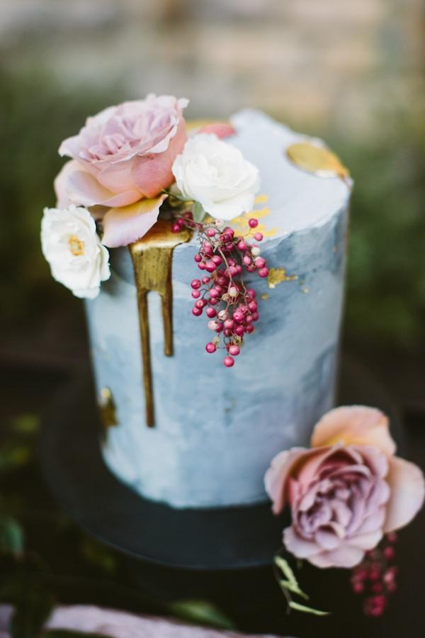 Painted drip cake