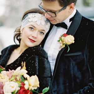Winter vintage couple