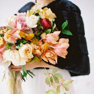 Blush and orange bouquet
