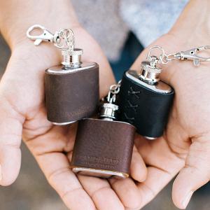 Leather Keychain Flasks
