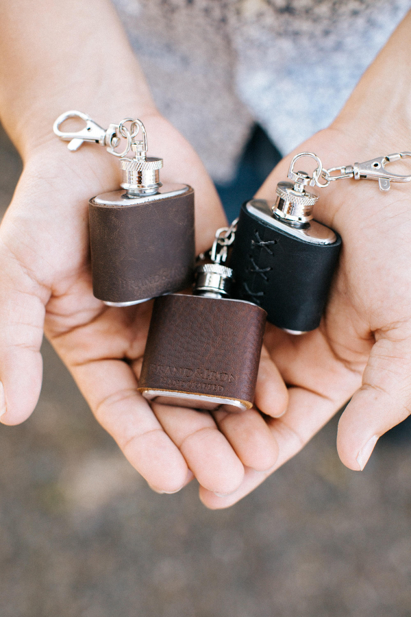 Leather Keychain Flasks