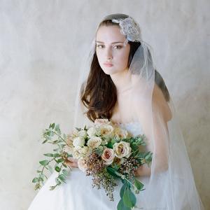 Lace Floral Juliet Cap Veil