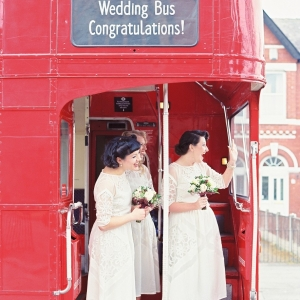 1940s Bridesmaids & a Double Decker London Bus | Photography - Taylor & Porter