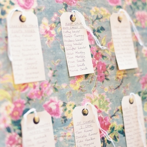Vintage DIY Seating Plan | Photography - Taylor & Porter