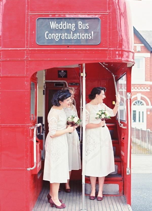 1940s Bridesmaids & a Double Decker London Bus | Photography - Taylor & Porter
