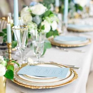 Aquamarine Wedding Tablescape
