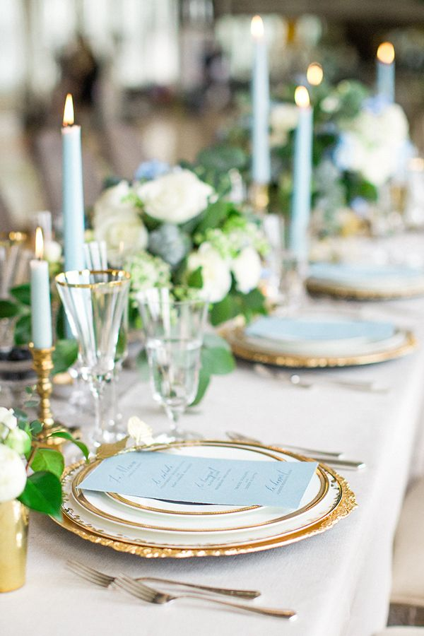 Aquamarine Wedding Tablescape