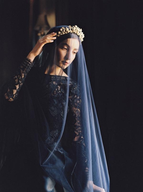 Beautiful Black Wedding Dress from Sareh Nouri's 2016 Collection