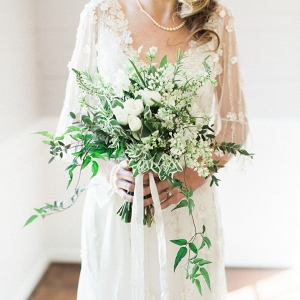 Organic Greenery Filled Bridal Bouquet