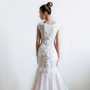 Floral Mermaid Bridal Gown