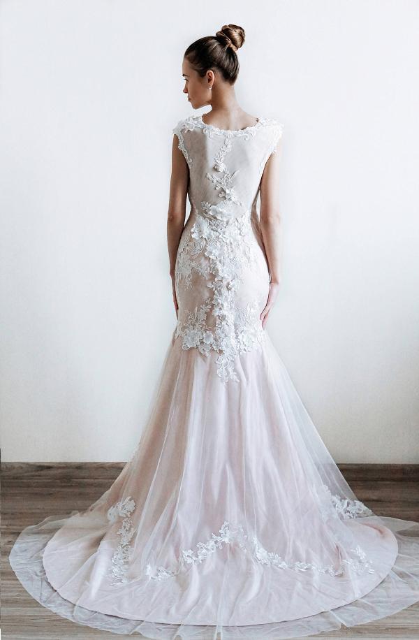 Floral Mermaid Bridal Gown