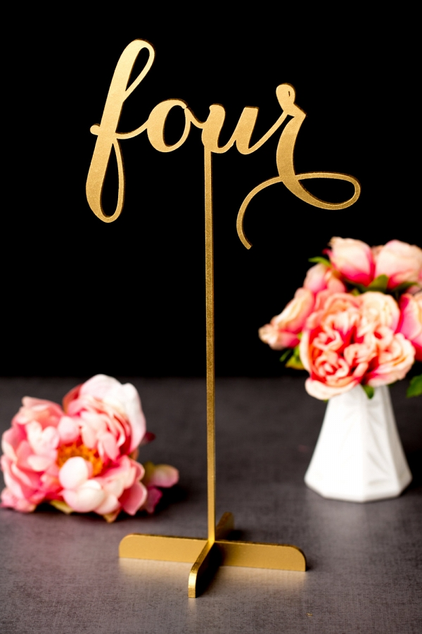 Freestanding Gold Wedding Table Numbers